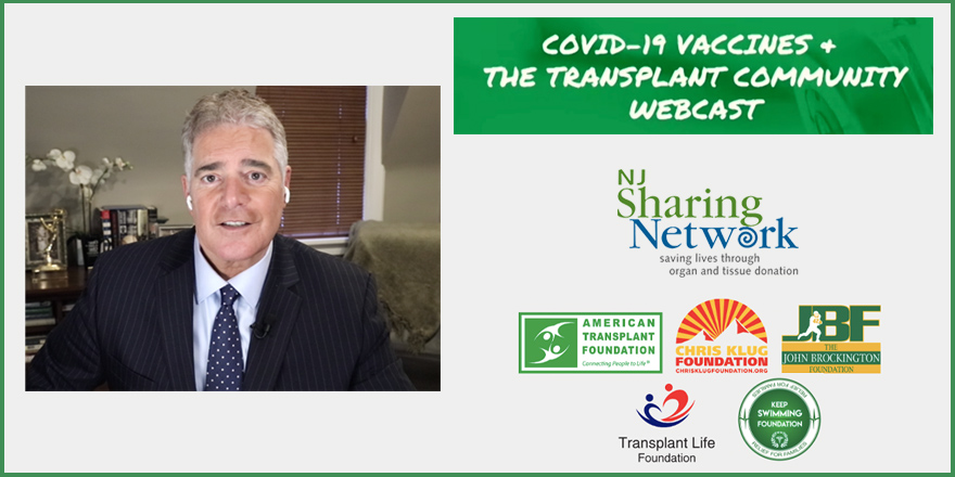 STEVE ADUBATO MODERATED PANEL ON COVID VACCINES + TRANSPLANT COMMUNITY