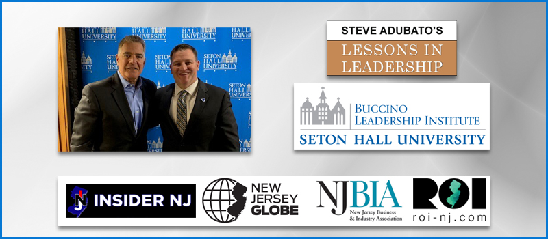 STEVE ADUBATO TEACHES MASTER CLASS AT SETON HALL BUCCINO LEADERSHIP INSTITUTE