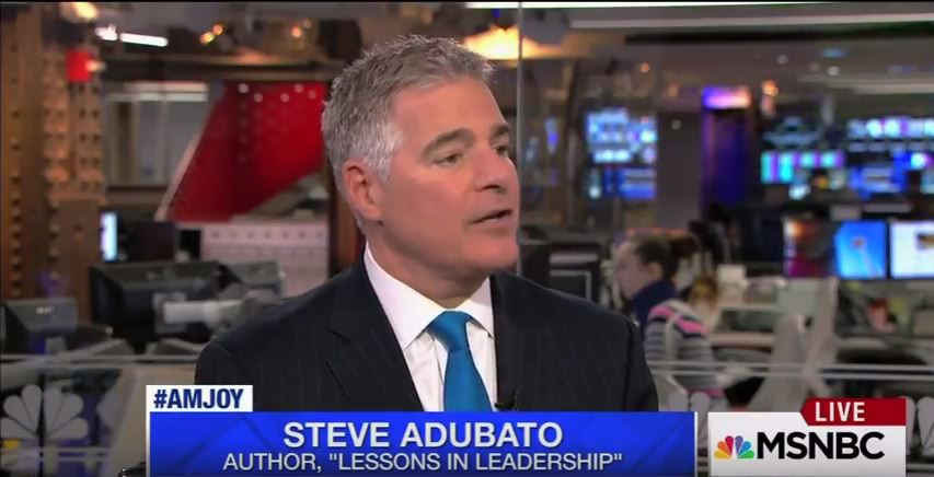 Steve Adubato Discusses President-Elect Trump's Leadership Style on MSNBC